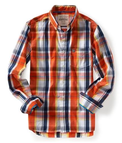 Aeropostale Mens Casual Plaid Button Up Shirt 810 XL