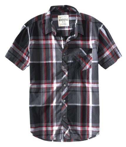 Aeropostale Mens Sleeve Plaid Button Up Shirt 035 S