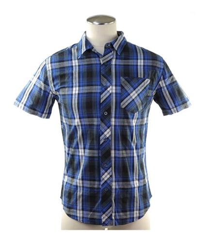 Aeropostale Mens Sleeve Plaid Button Up Shirt 001 S
