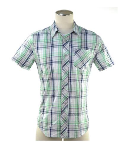 Aeropostale Mens Sleeve Plaid Button Up Shirt 300 S