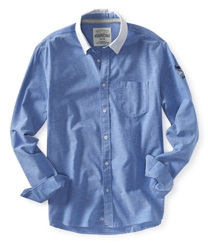 Aeropostale Mens Embroidered Down Button Up Shirt 793 S