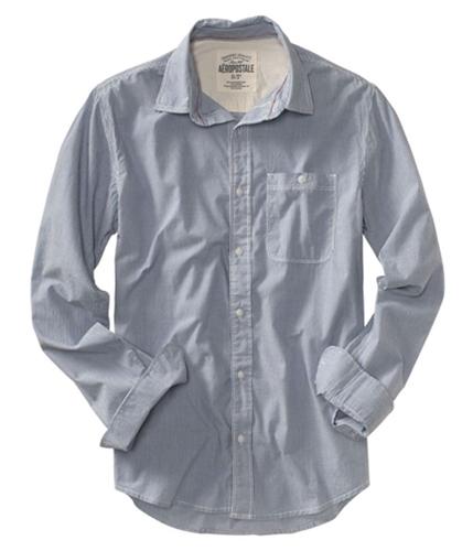 Aeropostale Mens Stripe Down Button Up Shirt bleachwhite S