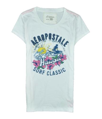 Aeropostale Womens Hawaii Sleeve Graphic T-Shirt bleachwhite XL