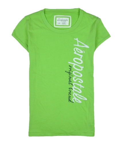 Aeropostale Womens Original Embroidered Graphic T-Shirt peargreen L