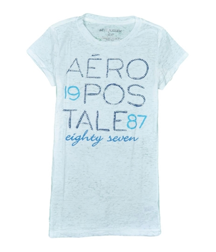 Aeropostale Womens Rhinestone Graphic T-Shirt bleachwhite L