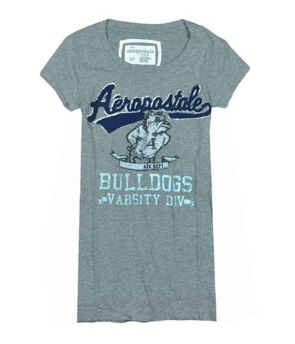 Aeropostale Womens Bulldogs Graphic T-Shirt mediumgray S