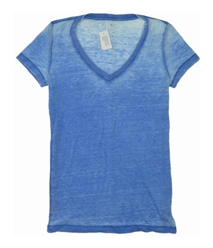 Aeropostale Womens Lightweight V-neck Basic T-Shirt seablue L