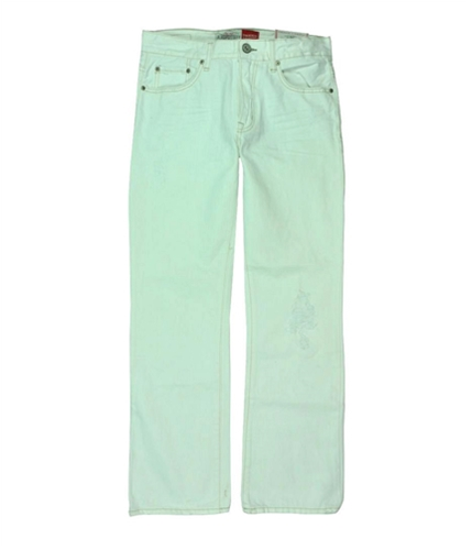Aeropostale Mens White Distressed Boot Cut Jeans white 28x30