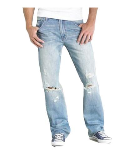 Aeropostale Mens Distressed Boot Cut Jeans light 27x28