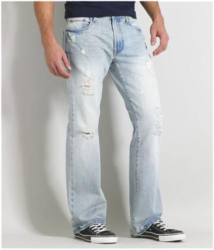 Aeropostale Mens Driggs Slim Boot Cut Jeans ltwash 30x30