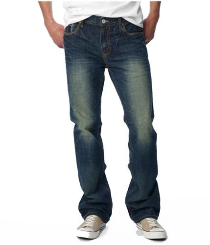 Aeropostale Mens Button Back Pocket Slim Fit Jeans dkwash 30x32