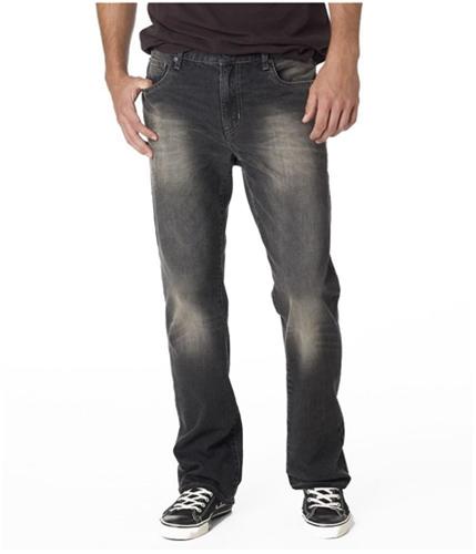 Aeropostale Mens Driggs Boot Cut Jeans black 27x28