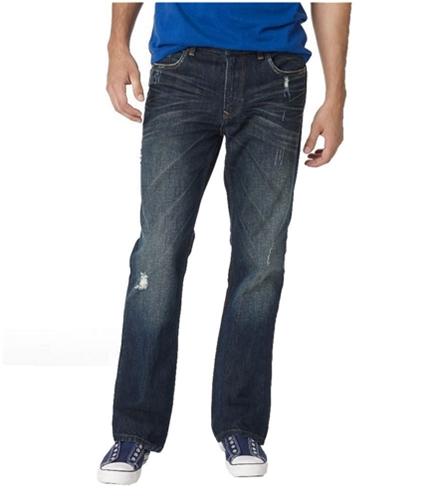 Aeropostale Mens Driggs Slim Boot Cut Jeans dkwash 27x28