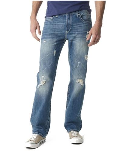 Aeropostale Mens Driggs Slim Boot Cut Jeans lightw 27x28