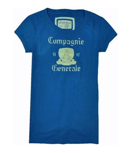 Aeropostale Womens Campagnie Graphic T-Shirt seablue S