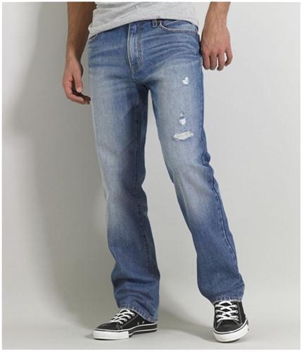 Aeropostale Mens Essex Medium Wash Straight Leg Jeans medium 36x32