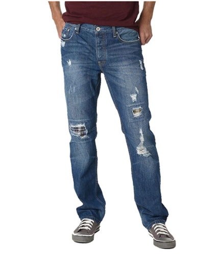 Aeropostale Mens Essex Dark Wash Straight Leg Jeans dkwash 27x28