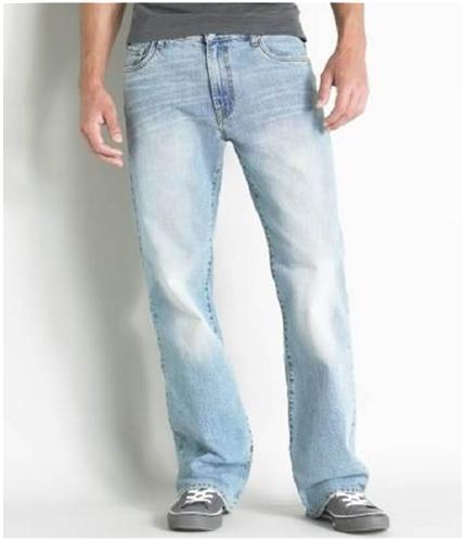 Aeropostale Mens Benton Boot Cut Jeans light 31x32