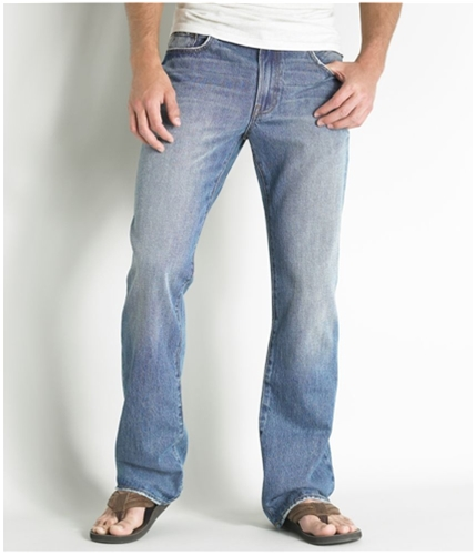 Aeropostale Mens Original Benton Boot Cut Jeans medium 31x32