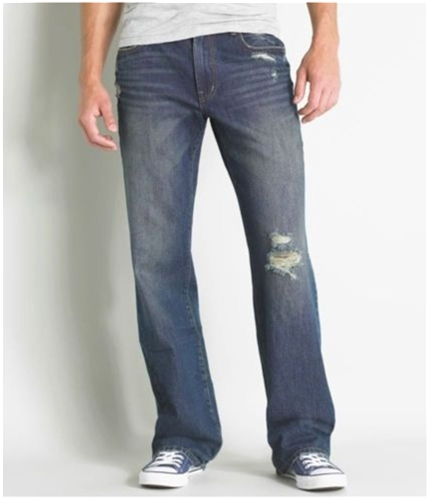 Aeropostale Mens Benton Boot Cut Jeans dark 27x28