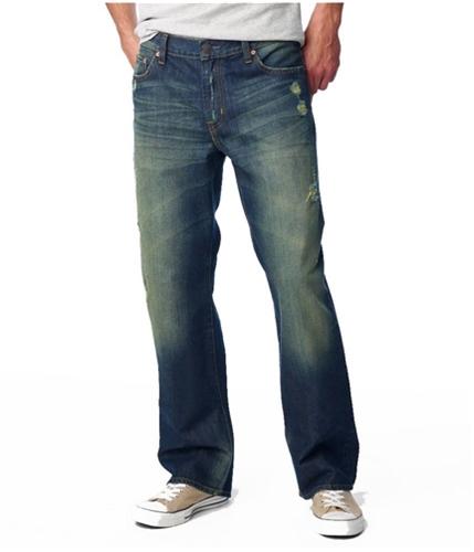 Aeropostale Mens Benton Boot Cut Jeans dkwash 27x28