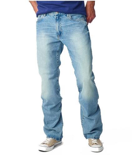 Aeropostale Mens Benton Boot Cut Jeans ltwash 27x28