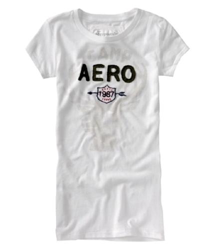 Aeropostale Womens North Lodge Graphic T-Shirt bleachwhite L