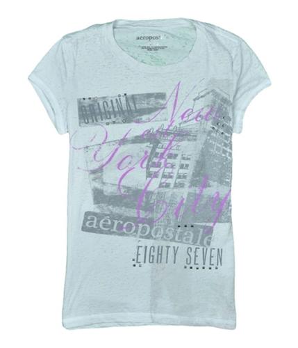 Aeropostale Womens Silver Studs Graphic T-Shirt graywhite XL