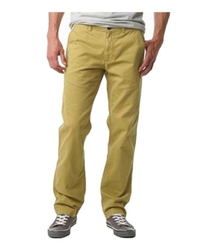 Aeropostale Mens Flat Chino Slant Pocket Casual Trouser Pants golden 34x34