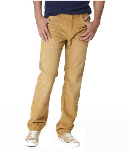 Aeropostale Mens Essex Straight Leg Casual Corduroy Pants golden 40x32