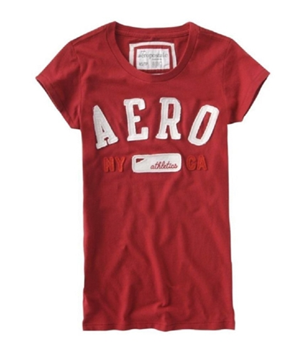 Aeropostale Womens Ny Athletics Ca Embroidered T Graphic T-Shirt autumnred L