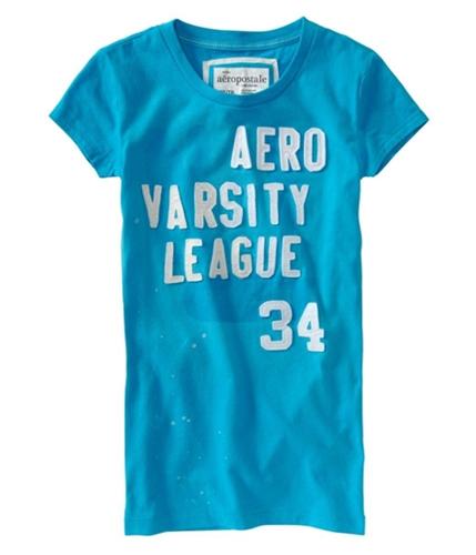 Aeropostale Womens Varsity Graphic T-Shirt curacaoaqua XS