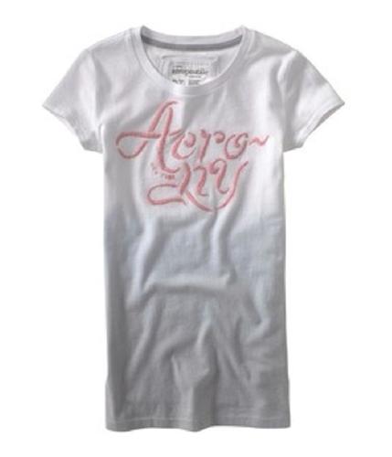 Aeropostale Womens Embroidered Aero Ny Graphic T-Shirt bleachwhite XS