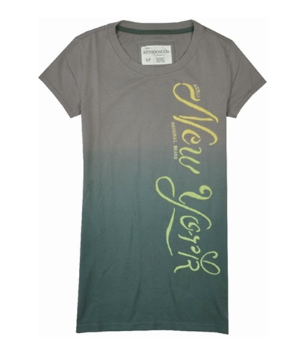 Aeropostale Womens New York Graphic T-Shirt bluffgray XS