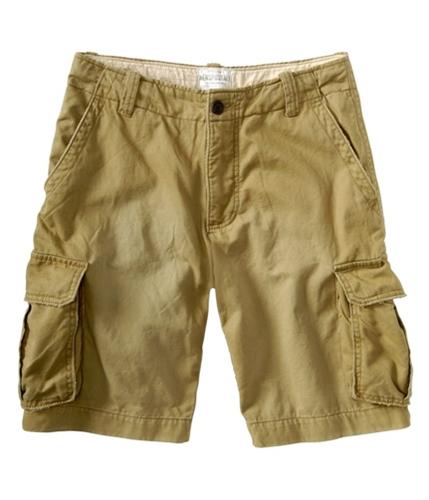 Aeropostale Mens Solid Casual Cargo Shorts goldentan 29