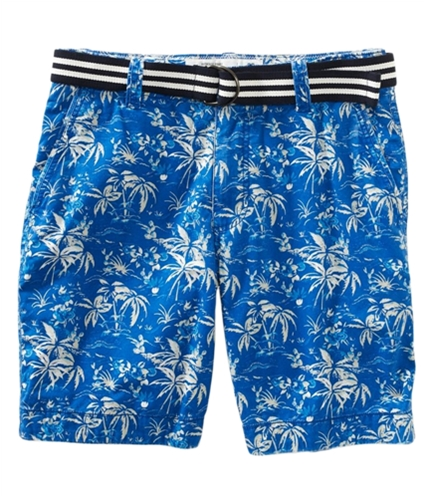 Aeropostale Mens Belted Tropical Pattern Casual Chino Shorts 433 27