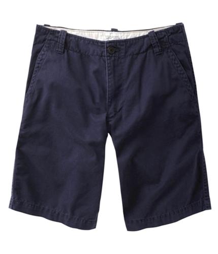 Aeropostale Mens Uniform Flat Graphic-less Casual Chino Shorts deepnavyblue 28