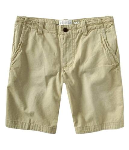 Aeropostale Mens Solid Flat-frontfront Casual Chino Shorts beigetundra 27