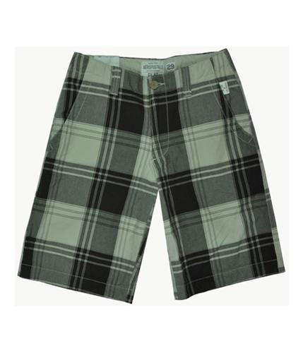 Aeropostale Mens Plaid Khaki Casual Chino Shorts browns 29