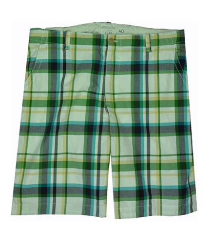 Aeropostale Mens Plaid Casual Walking Shorts oreganogreen 40