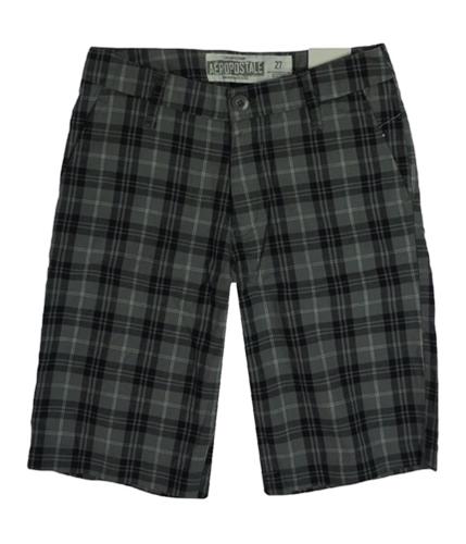 Aeropostale Mens Plaid Casual Chino Shorts 035 27