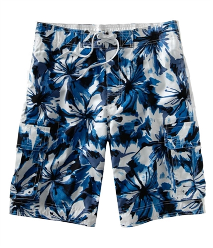 Aeropostale Mens Floral Print Pocketed Swim Bottom Board Shorts heavenl XL