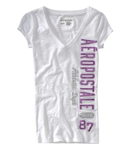 Aeropostale Womens Est. 19 87 Embellished Graphic T-Shirt bleachwhite XS