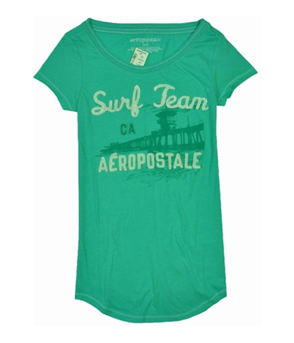 Aeropostale Womens Surf Team Ca Graphic T-Shirt clearwatergreen S