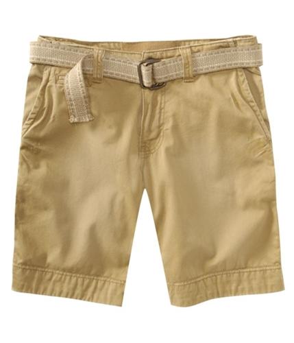 Aeropostale Mens Khaki Casual Chino Shorts goldentan 27
