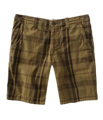 Aeropostale Mens Flat Front Casual Chino Shorts canyonbrown 27