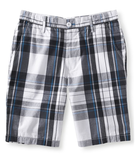 Aeropostale Mens Plaid Khaki Casual Chino Shorts 100 32