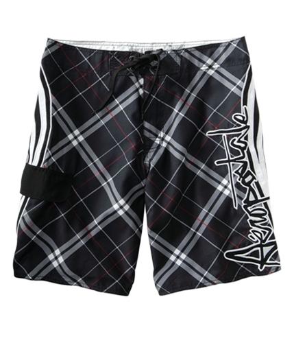 Aeropostale Mens Mesh Lined Swim Bottom Board Shorts black 29