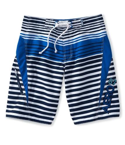 Aeropostale Mens Aero 87 Stripe Swim Bottom Board Shorts 413 28