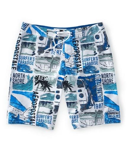Aeropostale Mens Back Pocket Swim Bottom Board Shorts active 28